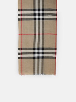 BURBERRY - SCIARPA MU GIANT GAUZE CHECK