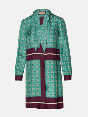 GUCCI - TURQUOISE GG DRESS