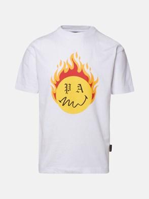 PALM ANGELS - T-SHIRT BURNING HEAD BIANCA