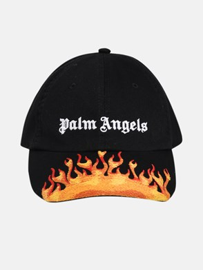 PALM ANGELS - CAPPELLINO BURNING NERO