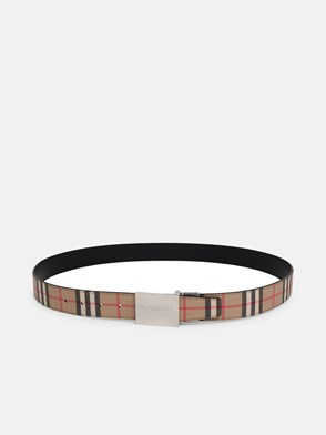 BURBERRY - MB 35MM CHECK BELT