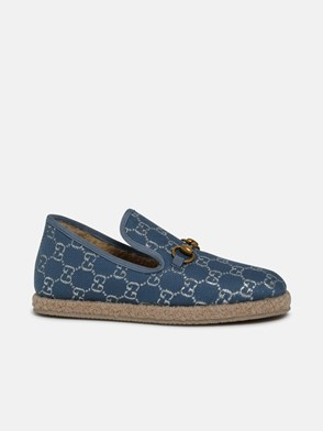 GUCCI - LIGHT BLUE FRIA GG SLIP-ONS