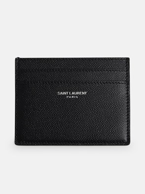 SAINT LAURENT - PORTACARTE NERO