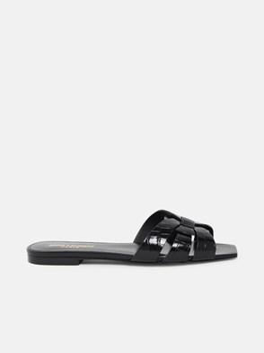 SAINT LAURENT - CIABATTA TRIBUTE 05 SLIDE SA NERA