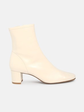 BY FAR - IVORY SOFIA ANKLE BOOTS