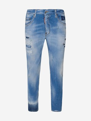 DSQUARED2 - LIGHT BLUE SKATER JEANS