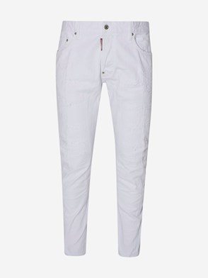 DSQUARED2 - WHITE TIDY BIKER JEANS