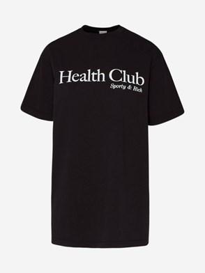 SPORTY & RICH - BLACK HEALTH CLUB T-SHIRT