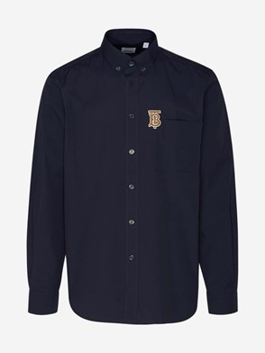 BURBERRY - CAMICIA CADDINGTON BLU