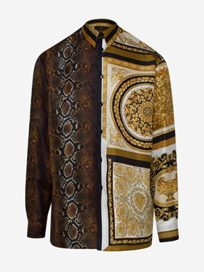 VERSACE - BROWN BAROCCO SHIRT