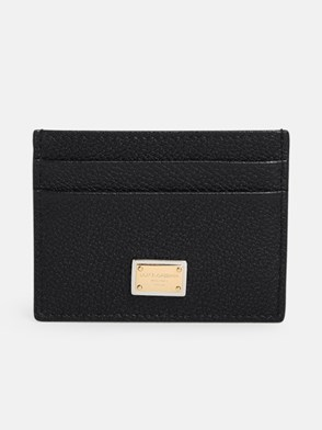 DOLCE & GABBANA - BLACK BOTTALATO CARD HOLDER