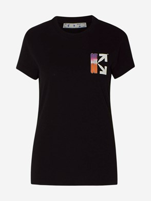 OFF WHITE - T-SHIRT GRADIENT NERA