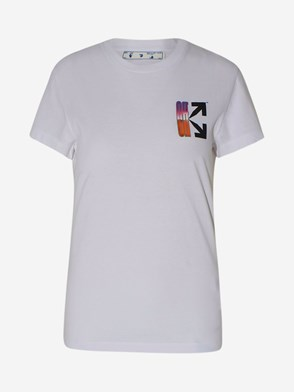 OFF WHITE - T-SHIRT GRADIENT BIANCA