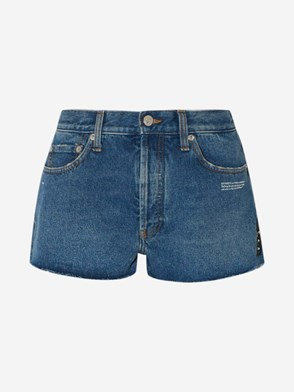 OFF WHITE - SHORTS JEANS BLU