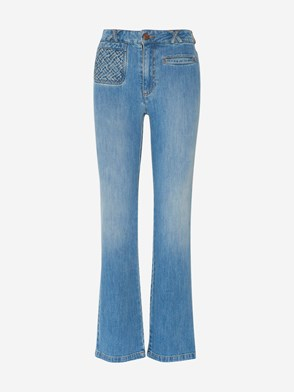 SEE BY CHLOE' - BLUE TROUSERS JEANS