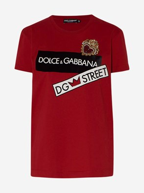 DOLCE & GABBANA - RED T-SHIRT