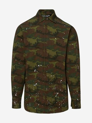 PALM ANGELS - GREEN CAMO LOOSE SHIRT