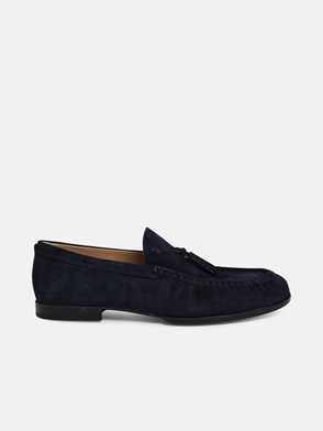 TOD'S - BLUE NAPPA LEATHER LOAFERS