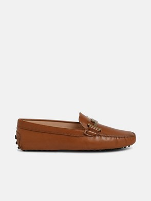 TOD'S - BROWN DOUBLE T LOAFERS