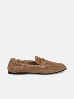 TOD'S - BEIGE DOUBLE T LOAFERS