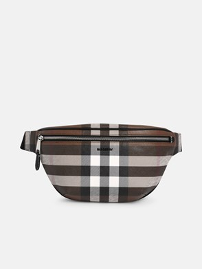 BURBERRY - MARSUPIO CASON CHECK MARRONE