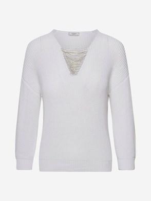 PESERICO - WHITE SWEATER