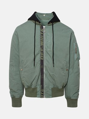 OFF WHITE - BOMBER ARROW VINTAGE VERDE