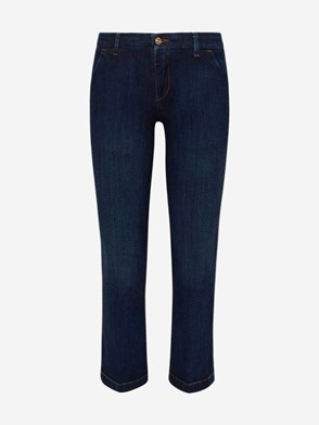 7 FOR ALL MANKIND - JEANS ANKLE BOOT CHINO BLU