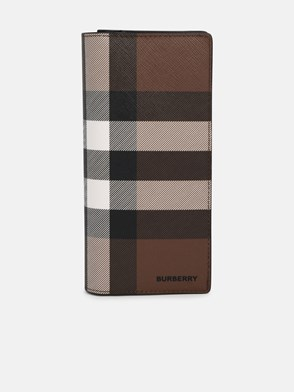 BURBERRY - BROWN CAVENDISH CHECK WALLET
