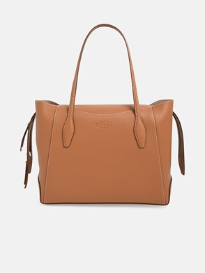 TOD'S - BORSA SHOPPING ZIP MEDIA MARRONE