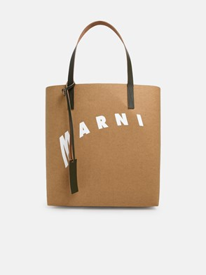 MARNI - BORSA SHOPPING MAXI LOGO MARRO