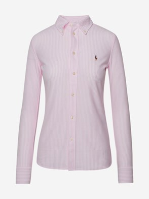 POLO RALPH LAUREN - CAMICIA BUTTON FRONT ROSA