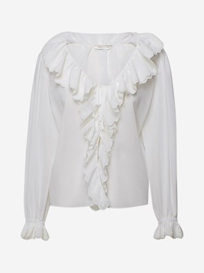 SAINT LAURENT - BLUSA BIANCA