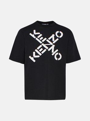 KENZO - T-SHIRT OVER LOGHI NERA