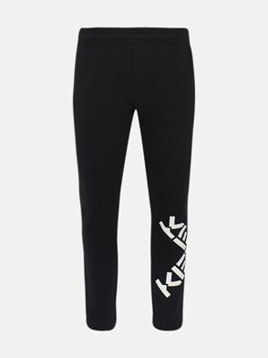 KENZO - BLACK LOGHI JOGGING PANTS