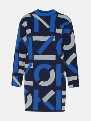 KENZO - BLUE MONOGRAM DRESS