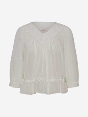 SEE BY CHLOE' - BLUSA BIANCA