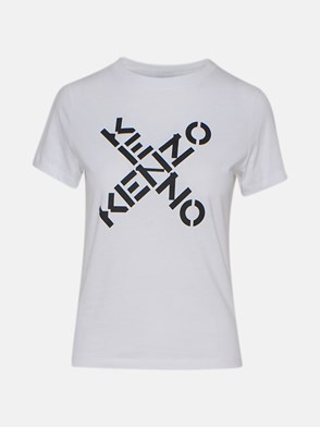 KENZO - T-SHIRT M/C LOGO X BIANCO