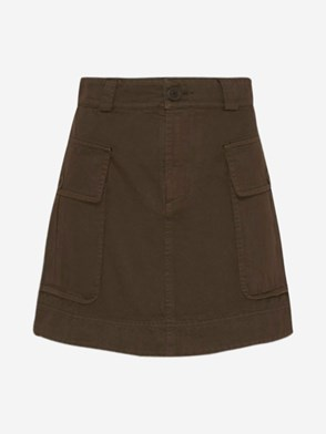 SEE BY CHLOE' - BROWN POCKETS SKIRT