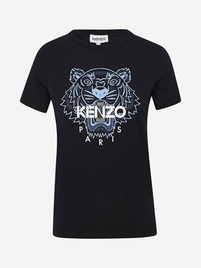 KENZO - T-SHIRT M/C TIGRE NERO