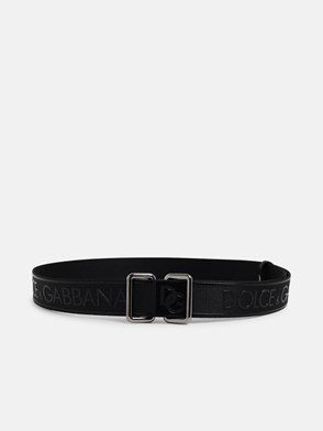 DOLCE & GABBANA - BLACK H35 BELT