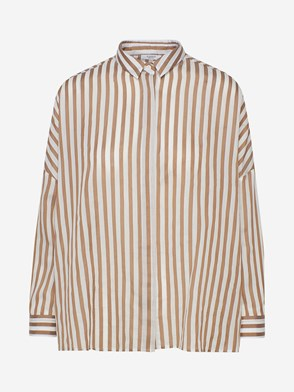 PESERICO - BEIGE STRIPED SHIRT