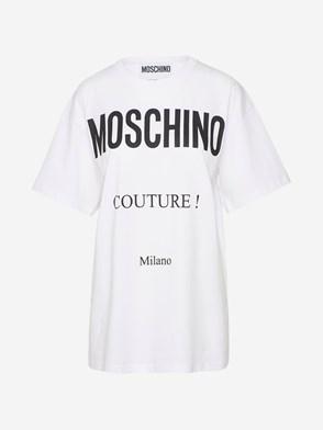 MOSCHINO - T-SHIRT MAXI BIANCA