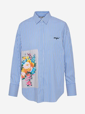 MSGM - BLUE AND SNEAKERS SHIRT
