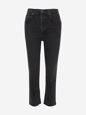 AGOLDE - BLACK RILEY HIGH RISE STRAIGHT RILEY JEANS