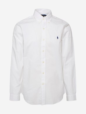 POLO RALPH LAUREN - WHITE SLIM FIT STRETCH COTTON SHIRT
