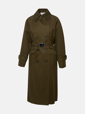 SPORTMAX - GREEN FLERES TRENCH COAT