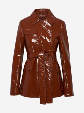 SPORTMAX - BROWN TANTALO JACKET