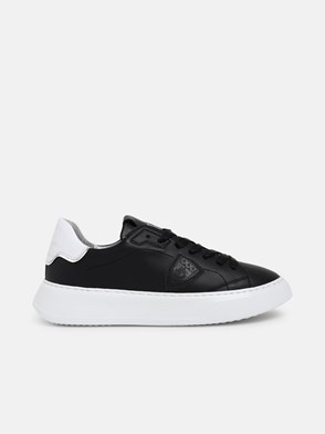 PHILIPPE MODEL - BLACK TEMPLE LOW SNEAKERS