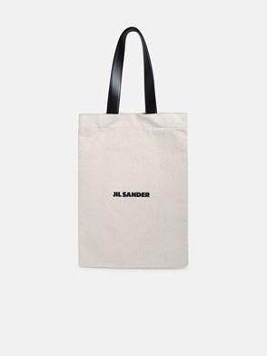 JIL SANDER - BEIGE LARGE SHOPPER BAG
